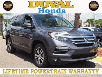 2018 Modern Steel Metallic Honda Pilot EX Automatic 3.5L V6 24V SOHC i-VTEC Engine 4 Door