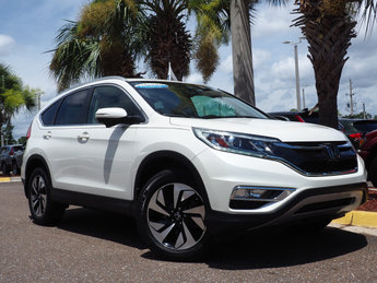 2016 White Diamond Pearl Honda CR-V Touring 2.4L I4 DOHC 16V i-VTEC Engine 4 Door Automatic (CVT) FWD