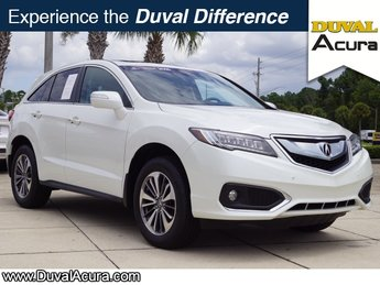 2016 White Diamond Pearl Acura RDX Advance Pkg 4 Door Automatic FWD