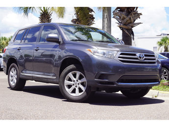 2013 Magnetic Gray Metallic Toyota Highlander Plus SUV 4 Door 2.7L 4-Cylinder DOHC 16V Dual VVT-i Engine FWD