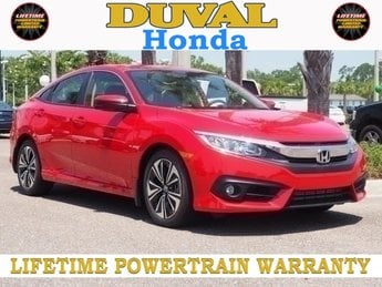 2018 Rallye Red Honda Civic EX-T Sedan FWD 4 Door
