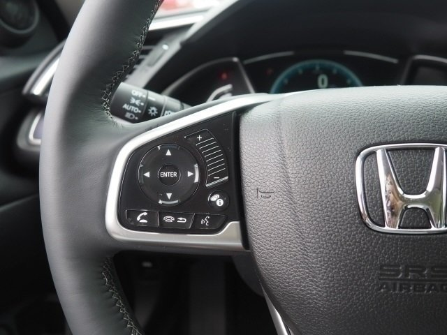 2018 Cosmic Blue Metallic Honda Civic EX-T Automatic (CVT) Sedan 1.5L I-4 DI DOHC Turbocharged Engine FWD 4 Door