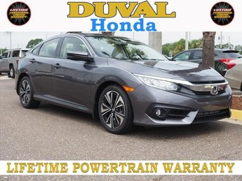 2018 Modern Steel Metallic Honda Civic EX-T 4 Door Automatic (CVT) 1.5L I-4 DI DOHC Turbocharged Engine