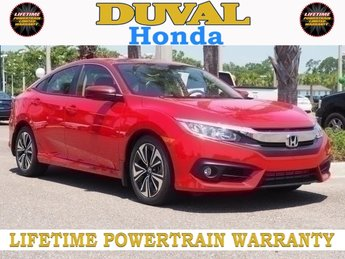 2018 Rallye Red Honda Civic EX-T Automatic (CVT) 1.5L I-4 DI DOHC Turbocharged Engine FWD
