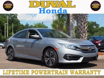 2018 Honda Civic EX-L FWD 1.5L I-4 DI DOHC Turbocharged Engine Automatic (CVT) 4 Door