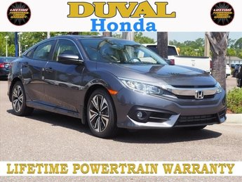2018 Modern Steel Metallic Honda Civic EX-L Sedan FWD 4 Door 1.5L I-4 DI DOHC Turbocharged Engine Automatic (CVT)