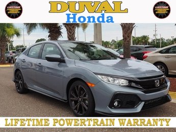 2018 Sonic Gray Pearl Honda Civic Sport 4 Door Automatic (CVT) Hatchback FWD