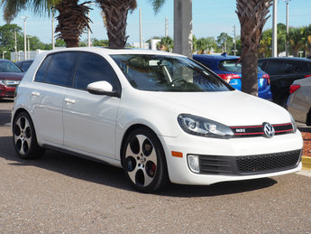 2012 Candy White Volkswagen GTI w/Sunroof & Navi PZEV FWD Hatchback 2.0L I4 TSI DOHC 16V Turbocharged Engine 4 Door Manual