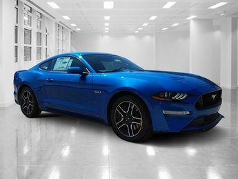 2019 Velocity Blue Metallic Ford Mustang GT Premium Automatic Premium Unleaded V-8 5.0 L/302 Engine Coupe RWD 2 Door