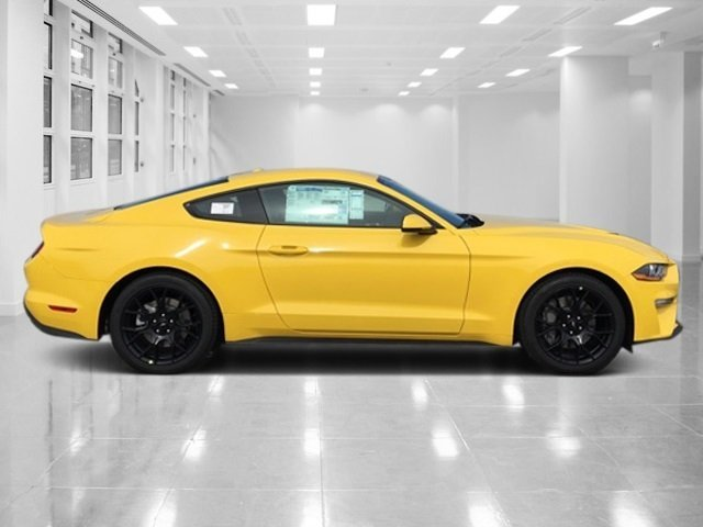 2018 Triple Yellow Tri-Coat Ford Mustang EcoBoost Premium Coupe 2 Door RWD Intercooled Turbo Premium Unleaded I-4 2.3 L/140 Engine Automatic