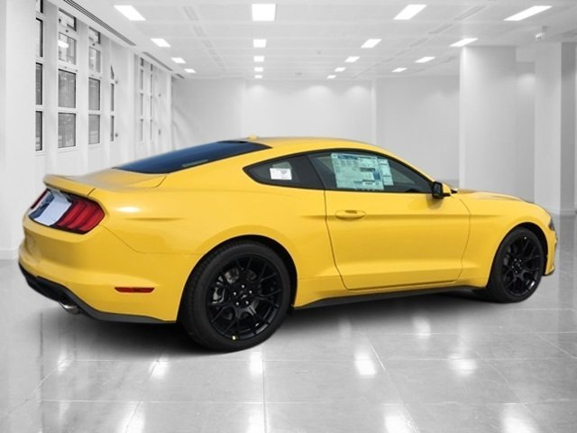 2018 Triple Yellow Tri-Coat Ford Mustang EcoBoost Premium RWD Automatic 2 Door Coupe Intercooled Turbo Premium Unleaded I-4 2.3 L/140 Engine