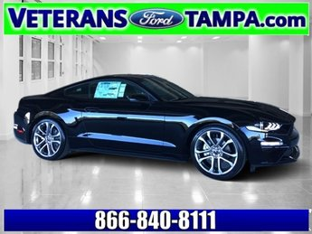 2018 Shadow Black Ford Mustang EcoBoost Premium RWD Automatic Coupe Intercooled Turbo Premium Unleaded I-4 2.3 L/140 Engine