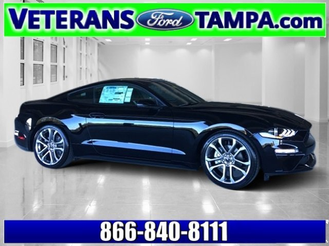 2018 Shadow Black Ford Mustang EcoBoost Premium 2 Door Automatic RWD EcoBoost 2.3L I4 GTDi DOHC Turbocharged VCT Engine Coupe