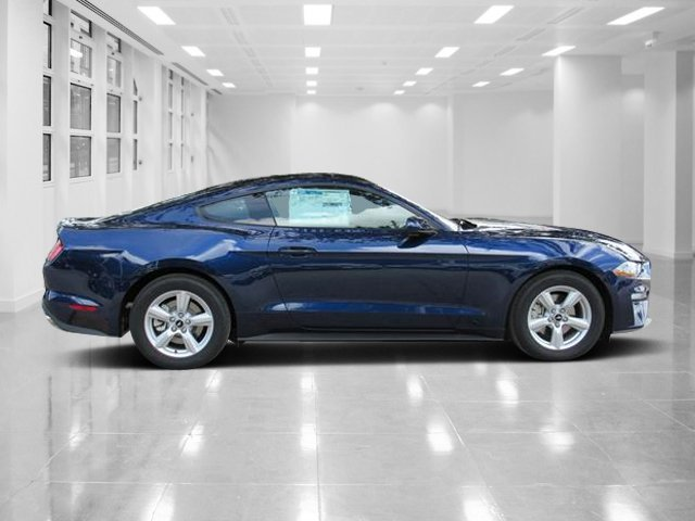 2019 Kona Blue Metallic Ford Mustang EcoBoost Coupe RWD 2 Door Intercooled Turbo Premium Unleaded I-4 2.3 L/140 Engine
