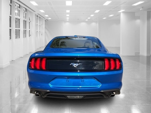 2019 Velocity Blue Metallic Ford Mustang EcoBoost Manual RWD Coupe Intercooled Turbo Premium Unleaded I-4 2.3 L/140 Engine