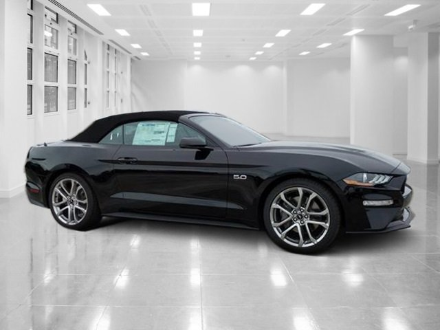 2019 Shadow Black Ford Mustang GT Premium RWD Premium Unleaded V-8 5.0 L/302 Engine 2 Door Convertible Automatic