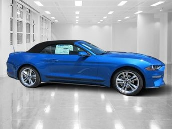 2019 Velocity Blue Metallic Ford Mustang EcoBoost Premium Intercooled Turbo Premium Unleaded I-4 2.3 L/140 Engine 2 Door Convertible RWD