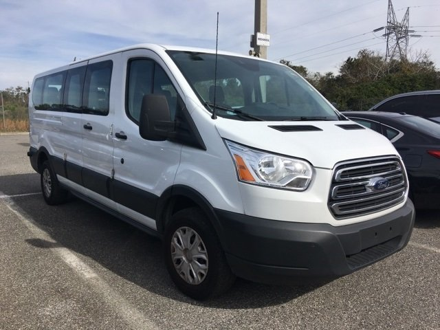 2017 White Ford Transit Wagon XLT Regular Unleaded V-6 3.7 L/228 Engine 3 Door RWD Automatic