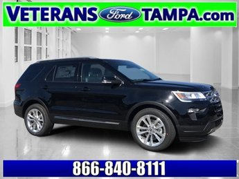 2018 Shadow Black Ford Explorer XLT FWD 4 Door SUV Automatic Regular Unleaded V-6 3.5 L/213 Engine