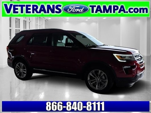 2018 Ruby Red Metallic Tinted Clearcoat Ford Explorer XLT Automatic FWD SUV 4 Door