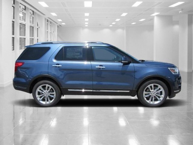 2018 Blue Metallic Ford Explorer Limited SUV FWD Intercooled Turbo Premium Unleaded I-4 2.3 L/140 Engine 4 Door Automatic