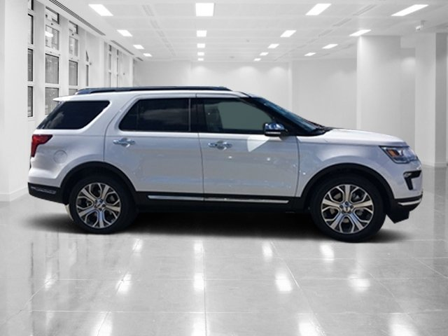 2019 White Platinum Metallic Tri-Coat Ford Explorer Limited 4 Door FWD Intercooled Turbo Premium Unleaded I-4 2.3 L/140 Engine