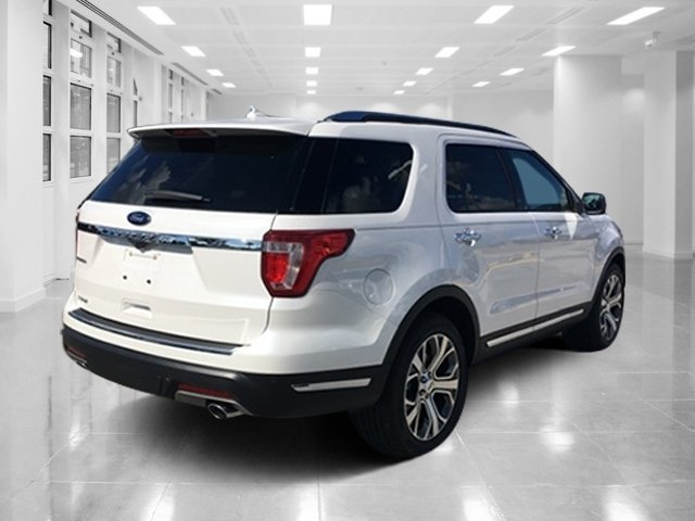 2019 White Platinum Metallic Tri-Coat Ford Explorer Limited Automatic FWD 4 Door SUV Intercooled Turbo Premium Unleaded I-4 2.3 L/140 Engine
