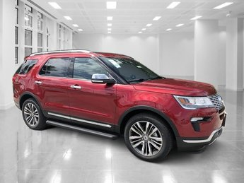 2018 Ruby Red Metallic Tinted Clearcoat Ford Explorer Platinum AWD 4 Door SUV Automatic