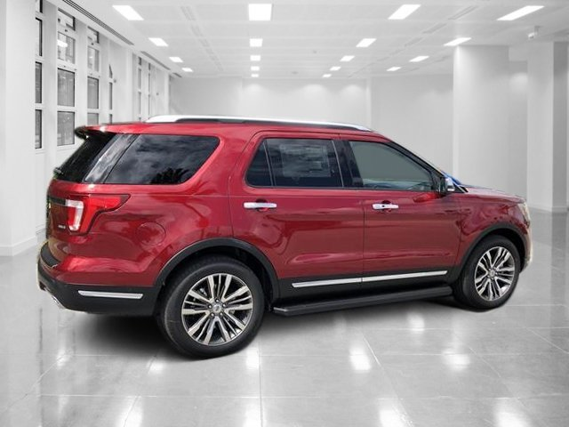 2018 Ruby Red Metallic Tinted Clearcoat Ford Explorer Platinum AWD Twin Turbo Premium Unleaded V-6 3.5 L/213 Engine 4 Door SUV
