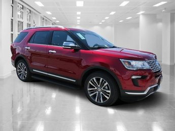 2018 Ruby Red Metallic Tinted Clearcoat Ford Explorer Platinum Automatic AWD SUV 4 Door Twin Turbo Premium Unleaded V-6 3.5 L/213 Engine