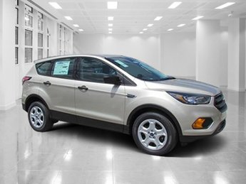 2018 White Gold Metallic Ford Escape S SUV 4 Door FWD Automatic