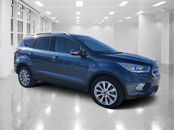 2018 Blue Metallic Ford Escape Titanium 4 Door SUV FWD Intercooled Turbo Premium Unleaded I-4 2.0 L/121 Engine