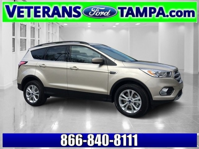 2018 White Gold Metallic Ford Escape SEL 4 Door Automatic SUV Intercooled Turbo Regular Unleaded I-4 1.5 L/91 Engine