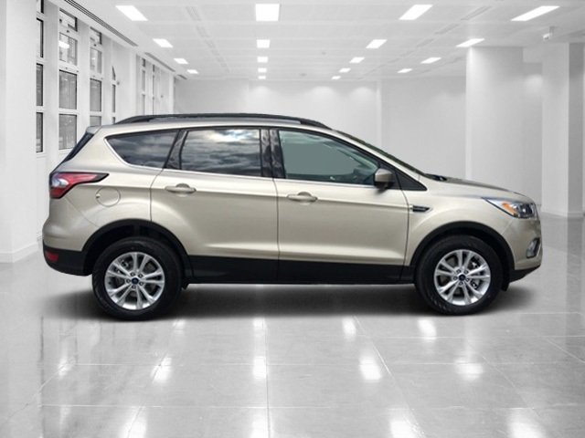 2018 White Gold Metallic Ford Escape SEL 4 Door SUV 4X4 Intercooled Turbo Regular Unleaded I-4 1.5 L/91 Engine