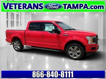 2018 Race Red Ford F-150 XLT Truck 4 Door Twin Turbo Regular Unleaded V-6 2.7 L/164 Engine