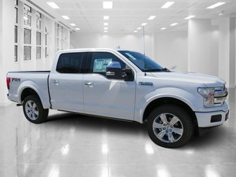 2018 White Platinum Metallic Tri-Coat Ford F-150 Platinum Truck 4X4 4 Door Regular Unleaded V-8 5.0 L/302 Engine Automatic