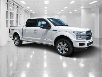 2018 White Platinum Metallic Tri-Coat Ford F-150 Platinum 4 Door 4X4 Intercooled Turbo Diesel V-6 3.0 L Engine