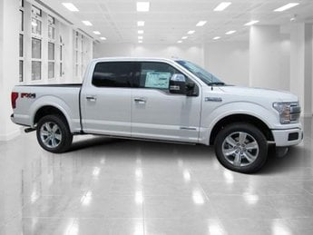 2018 White Platinum Metallic Tri-Coat Ford F-150 Platinum 4X4 4 Door Intercooled Turbo Diesel V-6 3.0 L Engine