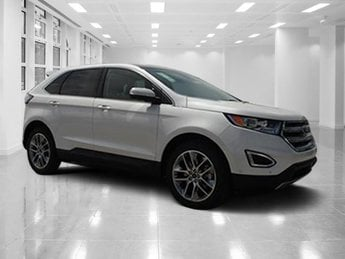2018 White Platinum Metallic Tri-Coat Ford Edge Titanium 4 Door Automatic Regular Unleaded V-6 3.5 L/213 Engine SUV
