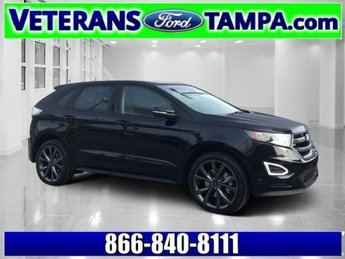 2018 Shadow Black Ford Edge Sport Twin Turbo Premium Unleaded V-6 2.7 L/164 Engine SUV 4 Door AWD Automatic