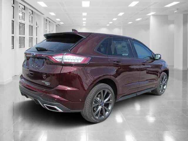 2018 Burgundy Velvet Metallic Tinted Clearcoat Ford Edge Sport AWD Twin Turbo Premium Unleaded V-6 2.7 L/164 Engine Automatic SUV