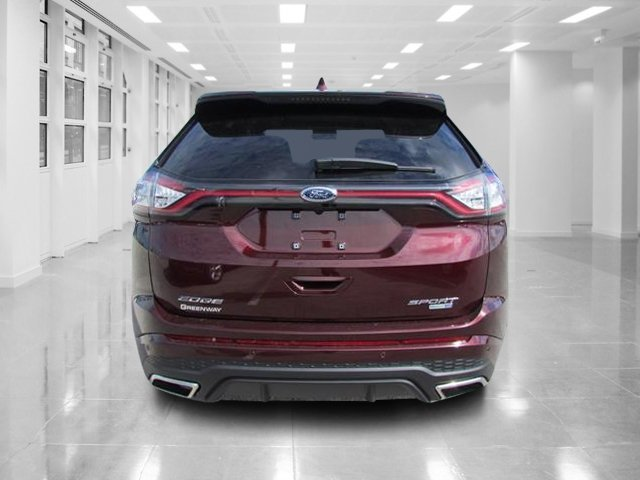 2018 Burgundy Velvet Metallic Tinted Clearcoat Ford Edge Sport Automatic SUV AWD Twin Turbo Premium Unleaded V-6 2.7 L/164 Engine