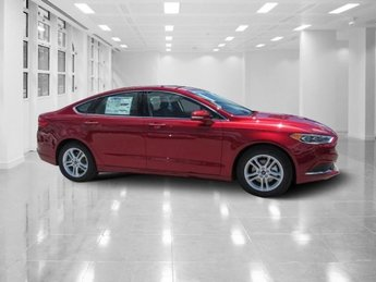 2018 Ruby Red Metallic Tinted Clearcoat Ford Fusion SE Sedan FWD 4 Door Intercooled Turbo Regular Unleaded I-4 1.5 L/91 Engine Automatic