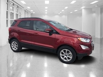 2018 Ruby Red Metallic Tinted Clearcoat Ford EcoSport SE SUV Intercooled Turbo Regular Unleaded I-3 1.0 L/61 Engine 4 Door Automatic