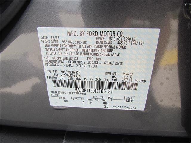 2018 Ford EcoSport SE 4 Door FWD Intercooled Turbo Regular Unleaded I-3 1.0 L/61 Engine