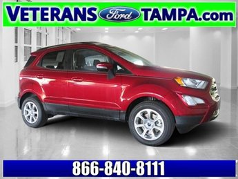 2018 Ruby Red Metallic Tinted Clearcoat Ford EcoSport SE FWD Intercooled Turbo Regular Unleaded I-3 1.0 L/61 Engine Automatic 4 Door SUV