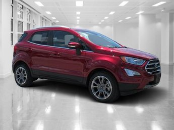 2018 Ruby Red Metallic Tinted Clearcoat Ford EcoSport Titanium Intercooled Turbo Regular Unleaded I-3 1.0 L/61 Engine 4 Door Automatic FWD