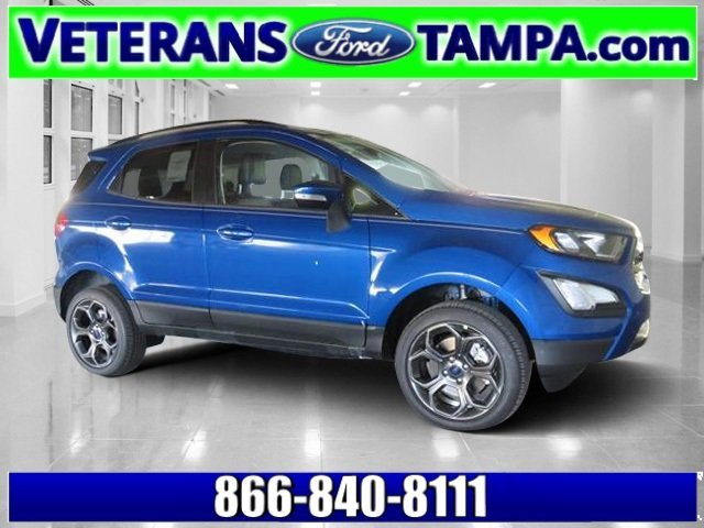 2018 Lightning Blue Metallic Ford EcoSport SES Automatic AWD 4 Door