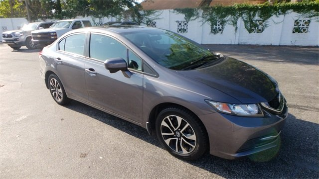 2015 Urban Titanium Metallic Honda Civic EX 1.8L I4 SOHC 16V i-VTEC Engine Sedan Automatic (CVT)