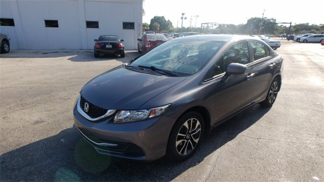 2015 Urban Titanium Metallic Honda Civic EX FWD 1.8L I4 SOHC 16V i-VTEC Engine Automatic (CVT) 4 Door